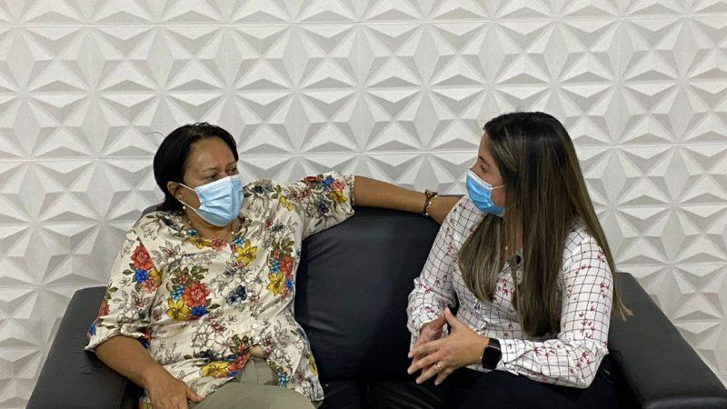 PREFEITA ANDREZZA BRASIL RECEBE GOVERNADORA FÁTIMA BEZERRA EM SÍTIO NOVO