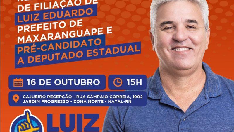 LUIZ EDUARDO, PREFEITO DE MAXARANGUAPE, FILIA-SE AO SOLIDARIEDADE